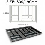 Cutlery tray inserts for kitchen drawers - WHITE