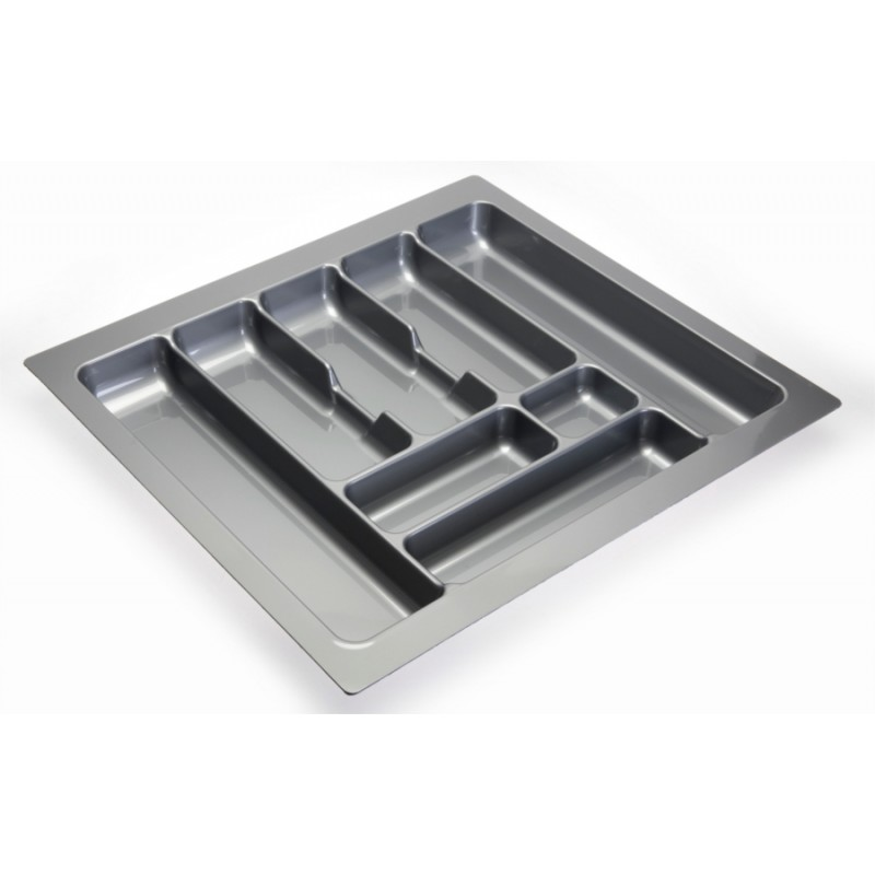 Cutlery tray inserts for kitchen drawers - GREY