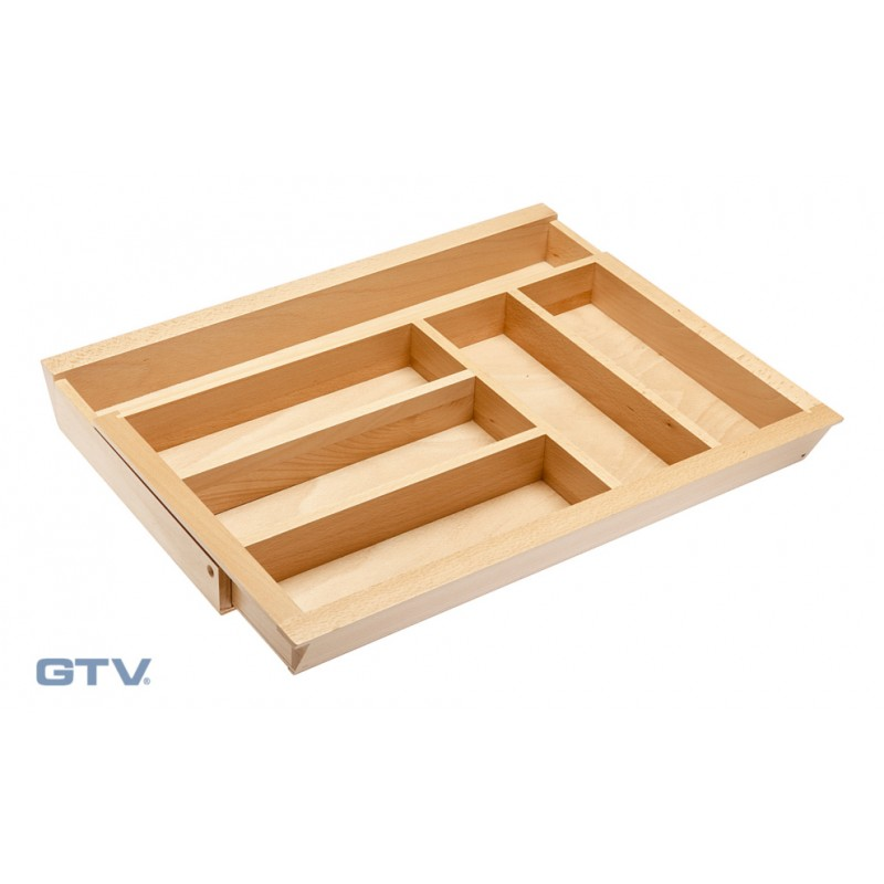 Expandable Wooden Cutlery Tray Insert Beech