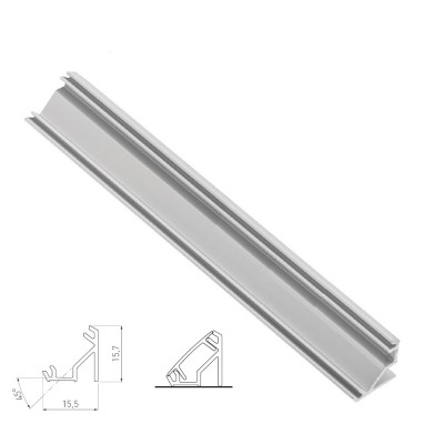 Corner mounting aluminium profile channel for LED strip lights