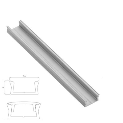 Surface mounting aluminium profile channel for LED strip lights
