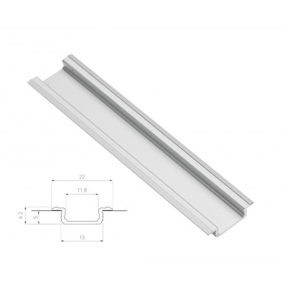 Recessed mounting aluminium profile channel for LED strip lights