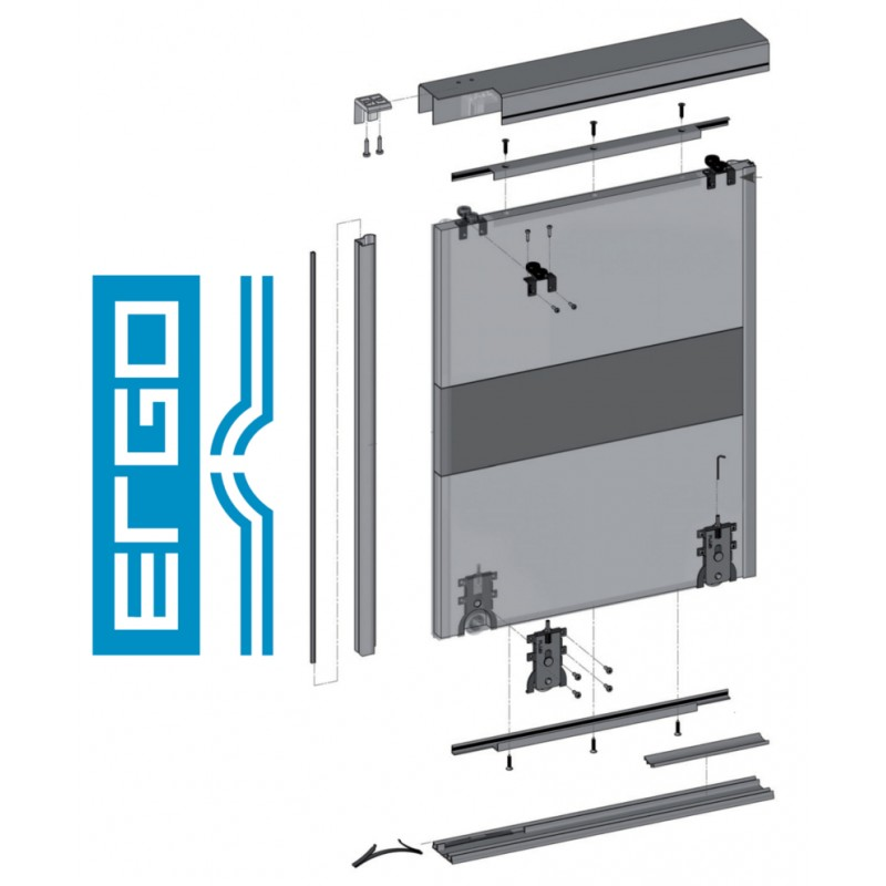 ERGO - KITS -  Wardrobe Sliding Door Track Gear System