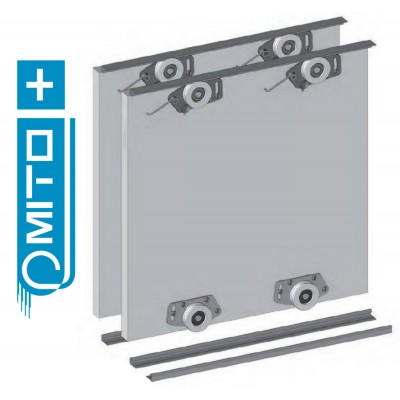 MITO PLUS - KITS -  Wardrobe Sliding Door Track Gear System