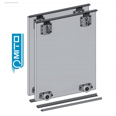 MITO - KITS -  Wardrobe Sliding Door Track Gear System