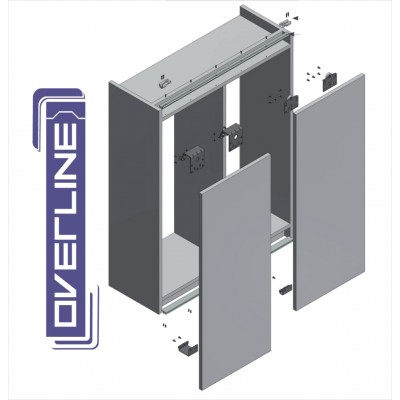 OVERLINE - KITS -  Wardrobe Sliding Door Track Gear System