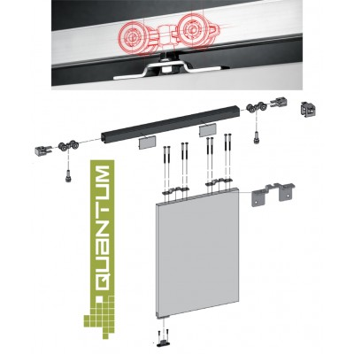 QUANTUM - KITS -  Wardrobe Sliding Door Track Gear System