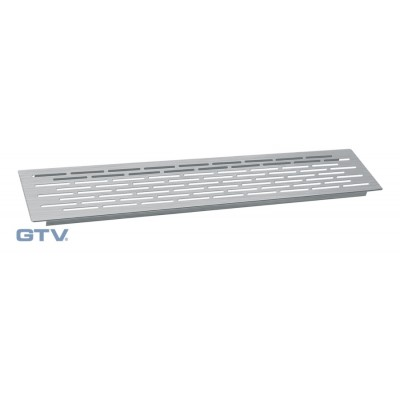 Kitchen worktop plinth heat vent grill 100x500mm Brushed Steel