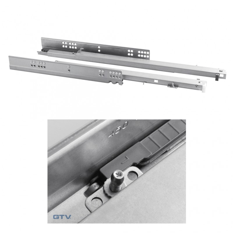 Soft Close Invisible Concealed Undermount Full Extension Drawer Runners  Slide