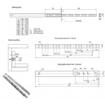 17mm Ball Bearing Drawer Runners - Single Extension