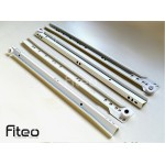 Bottom Fix Drawer Runners - WHITE