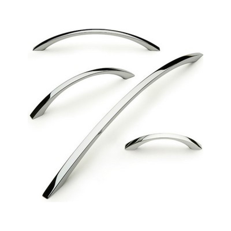 Slim bow handles - high polished chrome finish