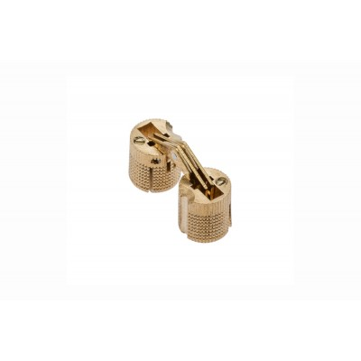 1x Solid Brass Cylinder Barrel Zysa Invisible Hinge for Caravan Worktops 180º