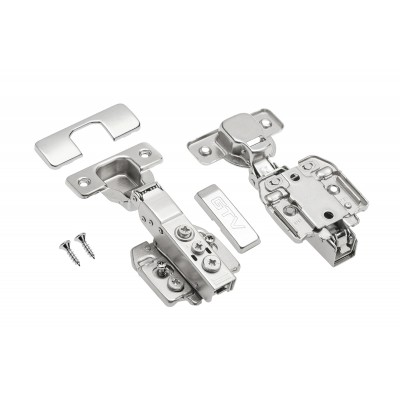 Soft close kitchen hinges with closing speed adjustment 35mm GTV half overlay