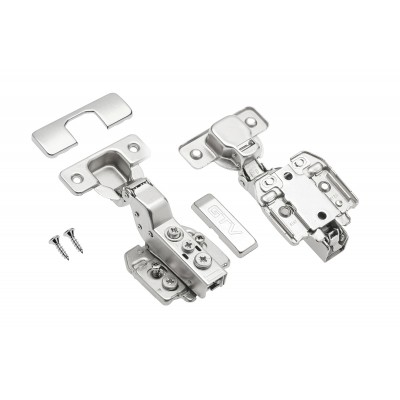 Soft close kitchen hinges with closing speed adjustment 35mm GTV inset