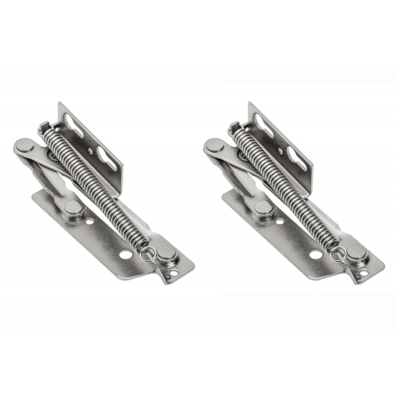 1 Pair of Lift Up Spring Assisted Hinges, Cabinet Top Box Door Lid Flap Stay