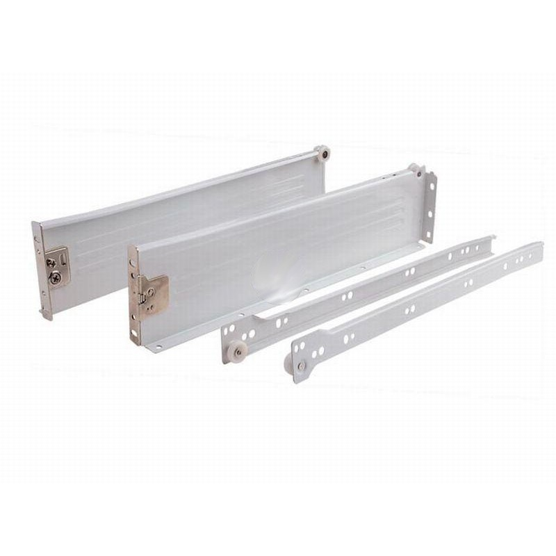 Metal Box Metal Drawer Sides White