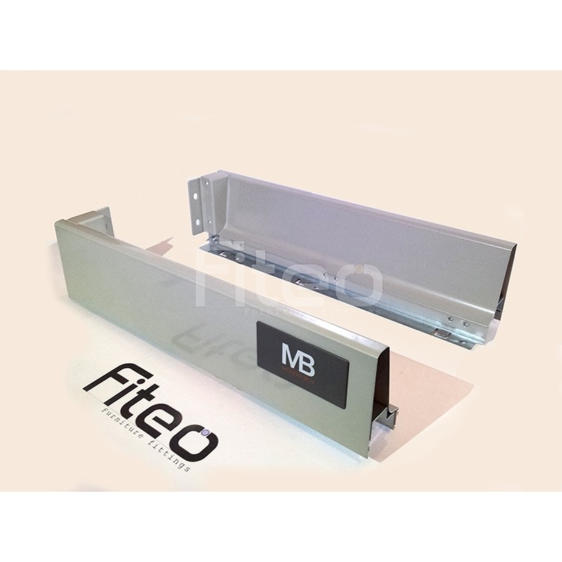 ModernBox - Soft Close Metal Drawer Sides - GRAY