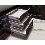ModernBox - Push to Open Metal Drawer Sides - GRAY