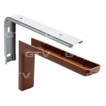 Shelf support brackets with cover - LIGHT BROWN
