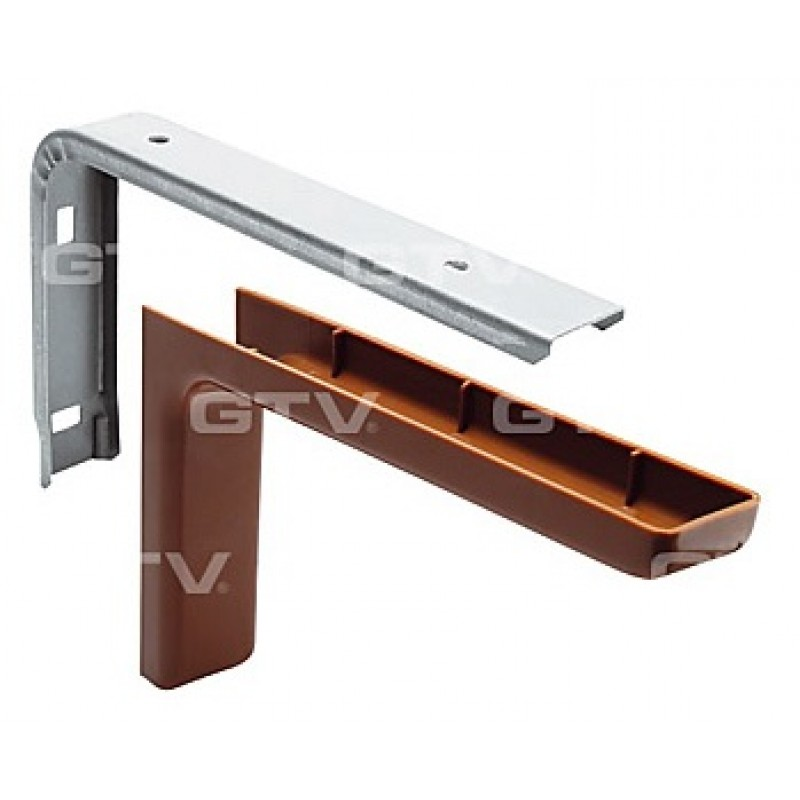 Shelf support brackets with cover - BROWN