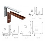 Shelf support brackets with cover - WHITE