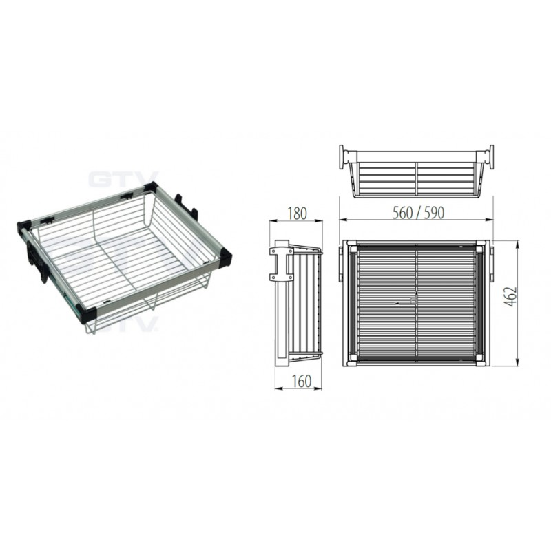 Pull Out Wire Basket Drawer Full Extension Wardrobe