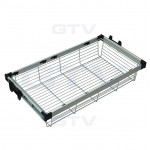 Pull Out Wire Basket Drawer - Full Extension - Wardrobe Storage Organiser