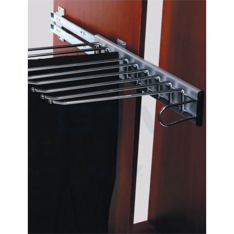 Pull-out Clothes Hanger, Trouser Rack, Extending Rail Wardrobe Storage Organiser