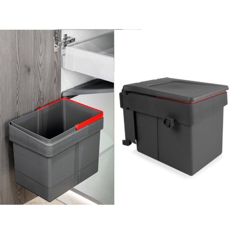 Swing out, Door mounting Pull Out Kitchen Waste Dust Bin 15L
