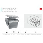 Pull Out Kitchen Waste Recycle Soft Close Bin for 600mm Cabinet - side mounting