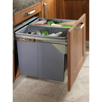Pull Out Soft Close Recycle Bin for 600mm cabinet - Front Fixing Cabinets