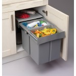 Pull Out Soft Close Recycle Bin for 450mm cabinet - Hinged Door Unit