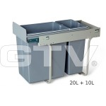 Pull Out Soft Close Recycle Bin for 300mm cabinet - Hinged Door Unit