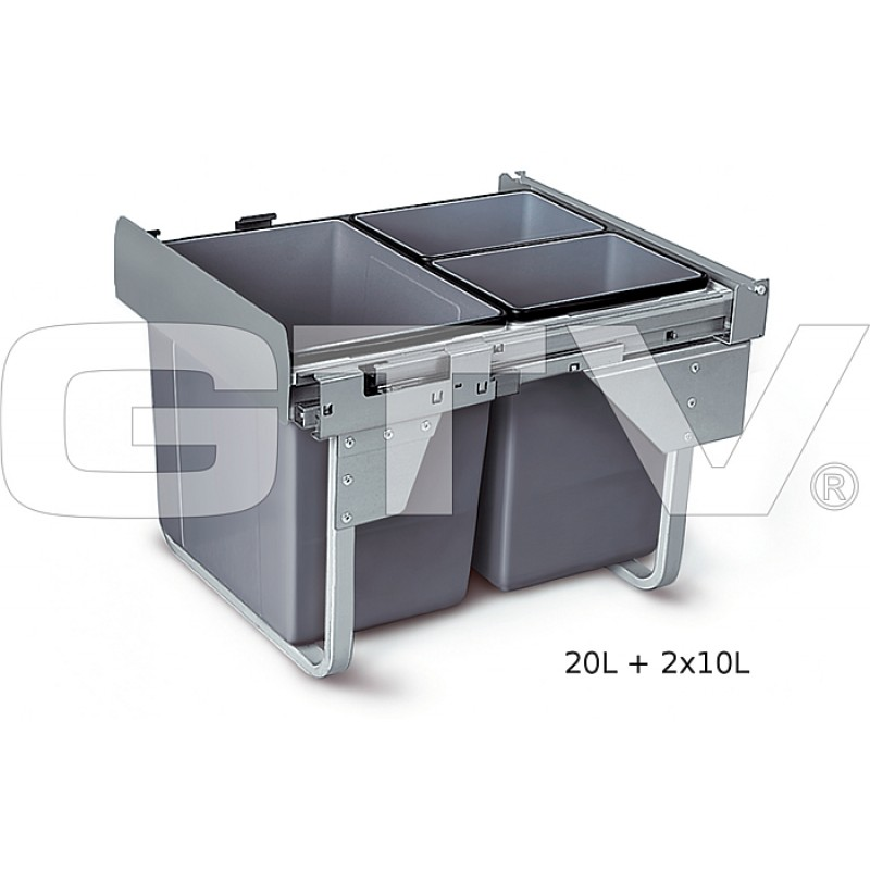 Out Soft Close Recycle Bin for 450mm cabinet - Hinged Door Unit