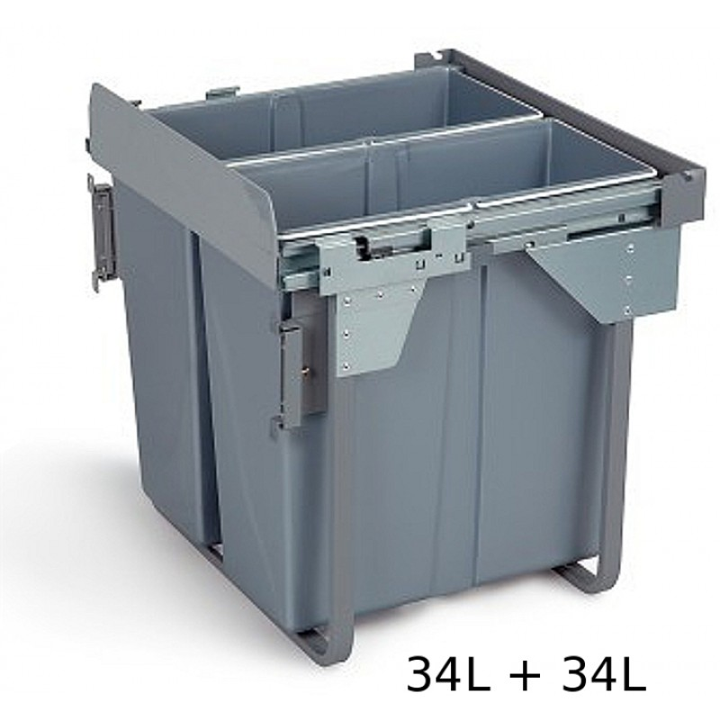 Pull Out Soft Close Recycle Bin For 600mm Cabinet